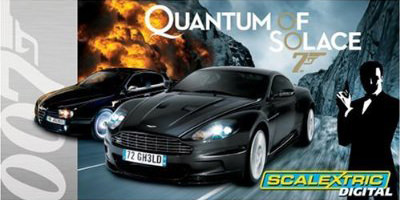 Scalextric 1:32 Digital James Bond 007 Quantum of Solace Slot Car Race Track Set C1222T