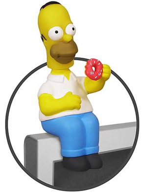 Homer Simpson computer sitting