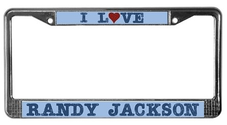I Love Randy Jackson License plate frame