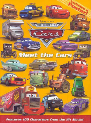 meet the cars a great hardcover book about pixar's cars movie
