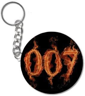 007 key chain on fire