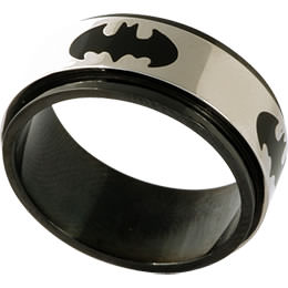 BATMAN Stainless Steel Revolving Ring