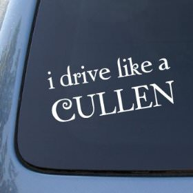 I Drive like a Cullen windows sticker