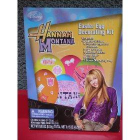 Hannah Montana Easter egg decorating