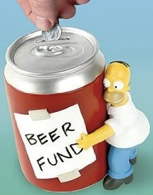 Homer's Piggy Bank for beer