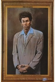 A painting of Kramer from the TV Series Seinfeld