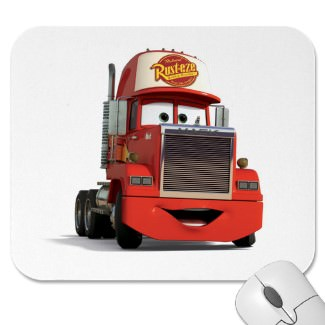 Mack the truck from Cars now on your mouse pad