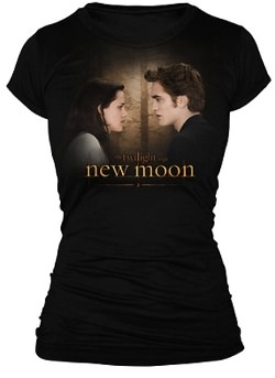 Bella and Edward on a black New Moon T-Shirt