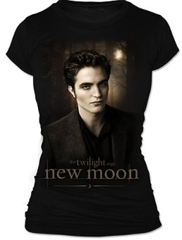 Edward on a t-shirt for the real new moon fan