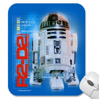 R2-D2 the robot from Star Wars on a great mousepad
