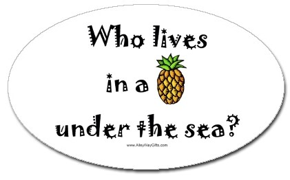 Who Lives in a pineapple under the sea? Spngebob squarepants