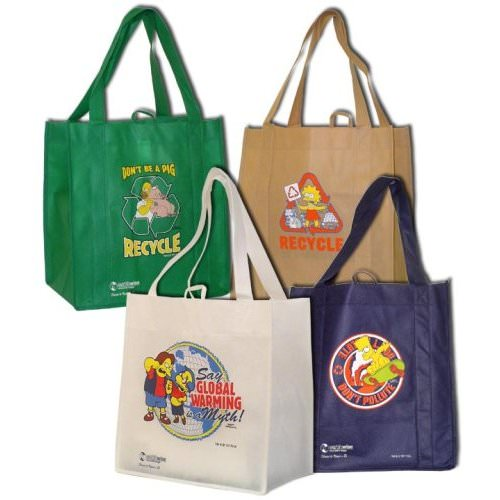 Simpsons grocery bags