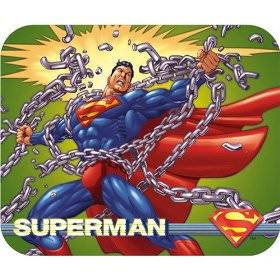 Superman breaking chains on a great mousepad