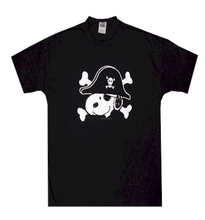 Peanuts - Snoopy the Pirate Captain T-Shirt for men