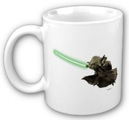 Yoda ready for coffee