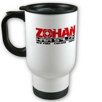 The Zohan Hairsalon travel mug