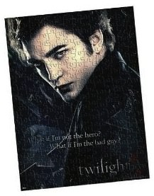 Edward Cullen with broken glass on this jigsaw puzzle