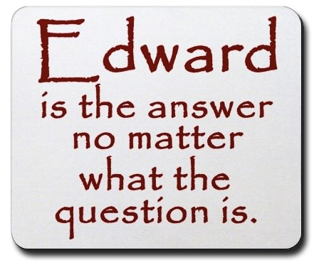 Edward is the answer mousepad