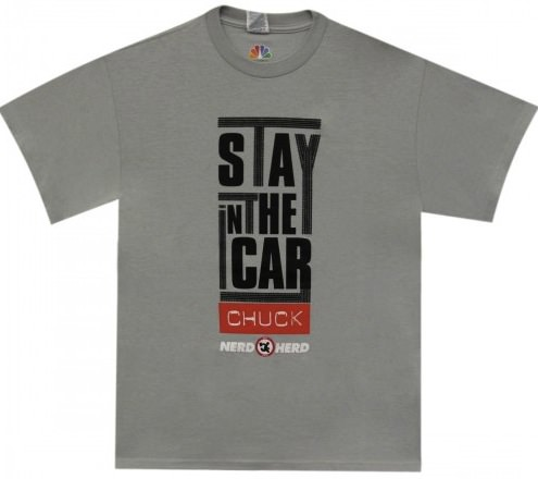 Chuck Stay In The Car T-Shirt