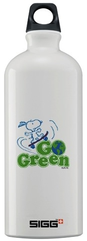 Snoopy go green bottle great for earth day