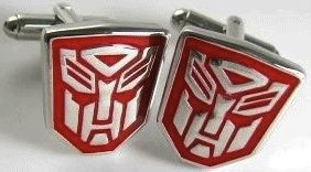 Transformers autobot cufflinks