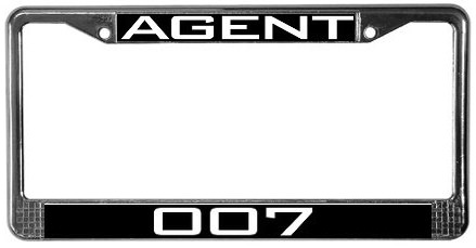 007 licence plate frame
