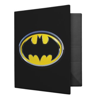 Batman Binder with the classic Batman logo