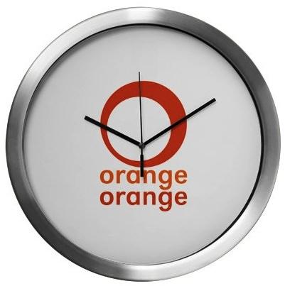 orange orange frozen yoghurt clock