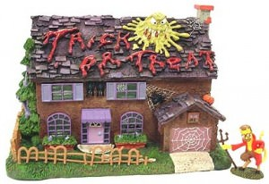 Hawthorne Halloween Village The Simpsons Flanders House #1418224002