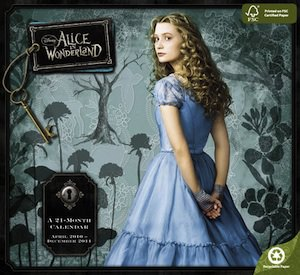 Alice in Wonderland 2011 Wall Calendar