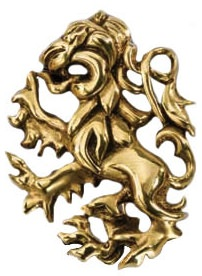 24k Gold Plated Sterling Silver Gryffindor Pin