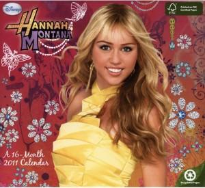 Hannah Montana 2011 Wall Calendar
