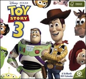 Toy Story 3 2011 Wall Calendar