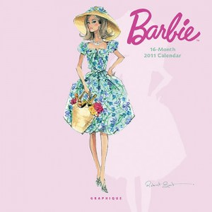 Barbie 2011 Mini Wall Calendar
