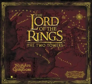 Lord of the Rings 2011 Easel Desk Calendar
