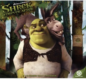 Shrek Forever After 2011 Wall Calendar