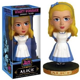 A bobblehead of Alice in wonderland