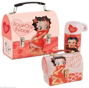 Betty Boop Lunchbox Salt & Pepper Shakers Set