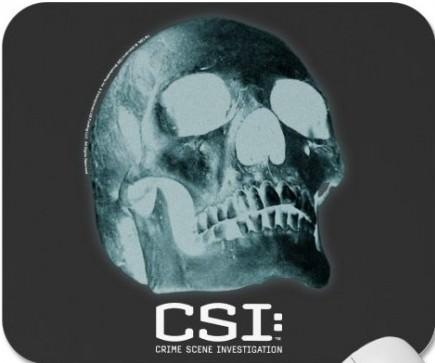 CSI Skull Mousepad