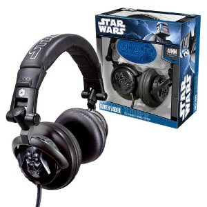 Star Wars Headphones with Darth Vader on it