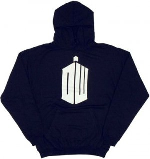 Doctor Who Tardis Insignia Pullover Hooded Sweatshirt