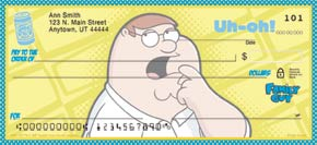Family Guy Personal Check Designs