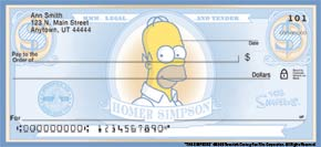 The Simpsons Personal Check Designs