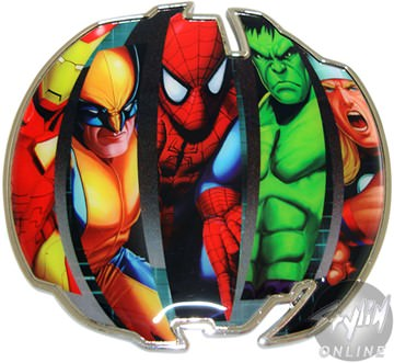 Marvel Comics Heroes Iron Man Wolverine Spider-Man Hulk Thor Belt Buckle