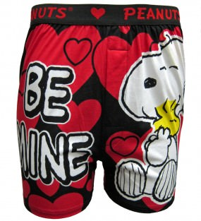 Peanuts - Snoopy and Woodstock Be Mine boxer shorts for men