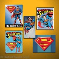 Superman DC Comics Set Tin Sign