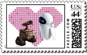 Wall-E Loves even and this US Postal Stamp proves it