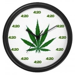 Well With This Cool Looking Weeds Wall Clock You May Be Happy To Know That  It Is Always 4:20, And Yes It Does Tell Real ...