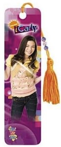 Carly Shay pink bookmark with beads