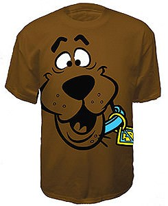 Big Face Scooby T-Shirt Brown
